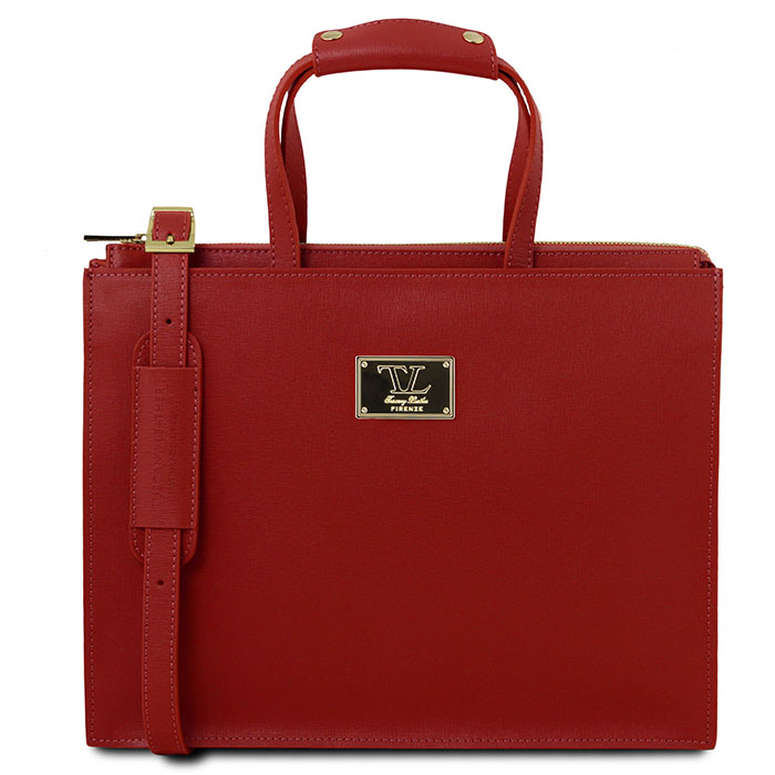 Tuscany Leather Palermo dames aktetas rood