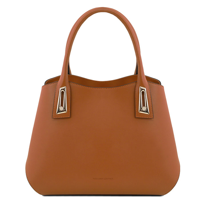 Tuscany Leather leren handtas Flora brandy