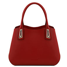 Tuscany Leather leren handtas Flora rood