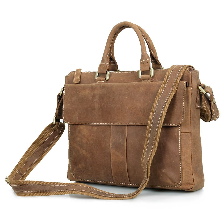 Burke leather laptop bag up to 15,6