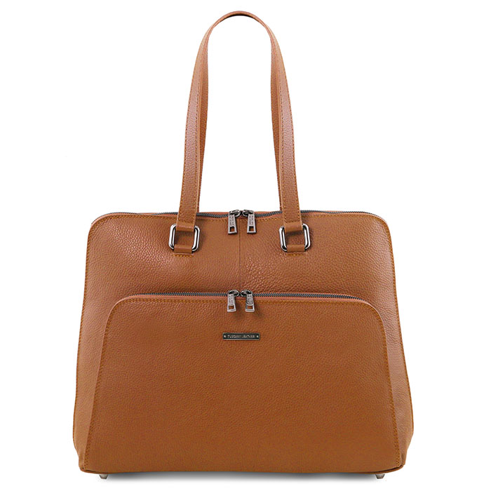 Tuscany Leather Lucca leren dames laptoptas zwart