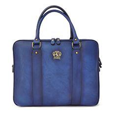 Pratesi Magliano laptoptas blauw