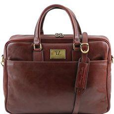 Tuscany Leather Urbino leren laptoptas 15,6