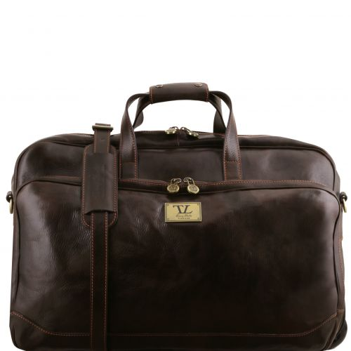 Tuscany Leather Samoa leren trolley donkerbruin