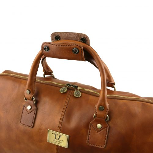 Tuscany Leather Antigua leren reistas donkerbruin