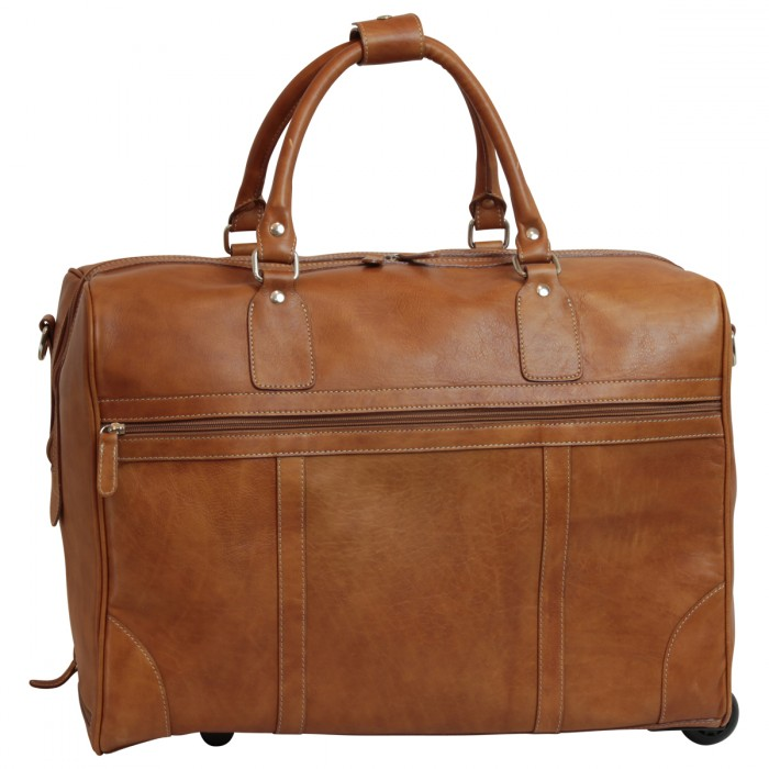 Old Angler leren trolley New world collection cognac