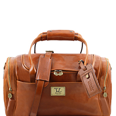 Tuscany Leather TL Voyager leren reistas cognac