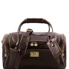 Tuscany Leather TL Voyager leren reistas donkerbruin