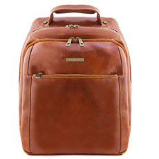 Tuscany Leather leren laptop rugzak Phuket Honey TL141402