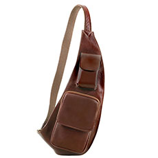 Tuscany Leather leren crossover bag brown