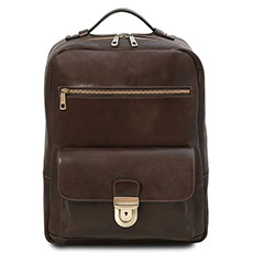 Tuscany Leather leren laptop rugtas Kyoto